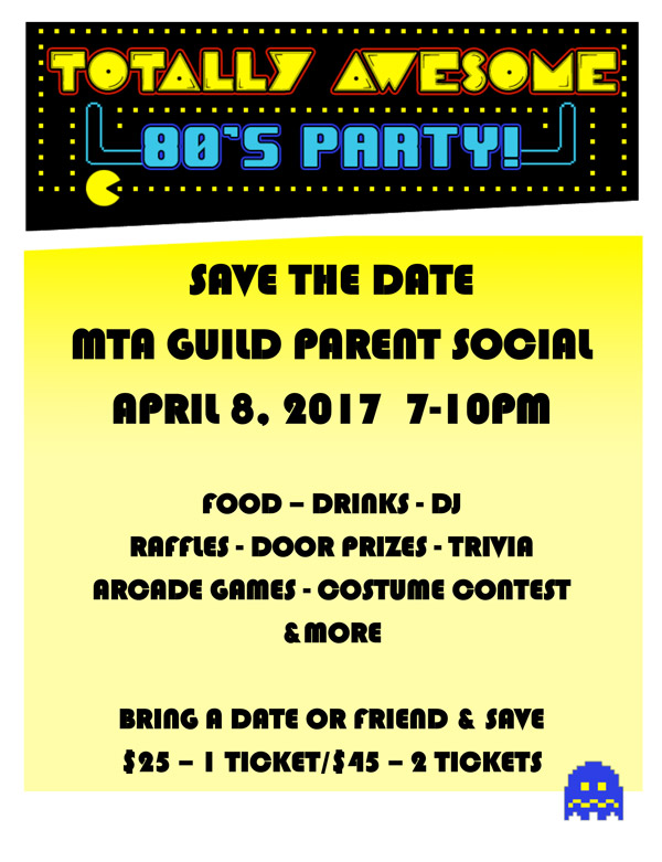 Totally Awesome 80s Party - Save the Date